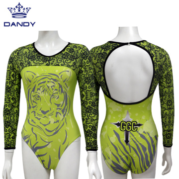 Wholesale long sleeve gynastics costumes