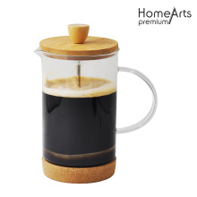 CORK BASE FRENCH PRESS WITH GLASS HANDLE