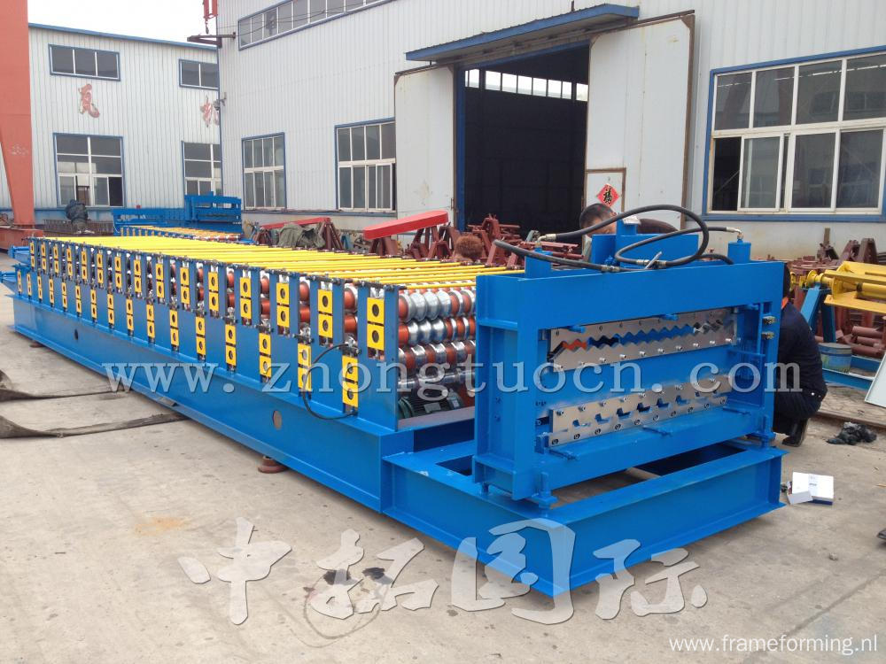double layer metal sheet roofing roll forming machine