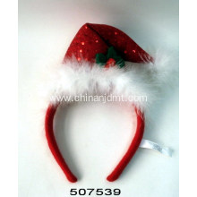Holiday Santa hat hair hoop