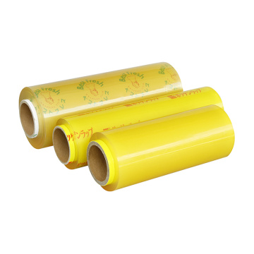 Plastic warp pe cling film for food packaging