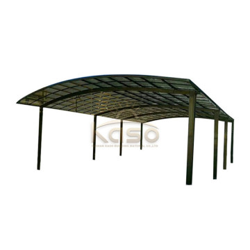 Snow Load Metal Car Canopy Polycarbonate Arched Roofing