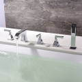 HIDEEP Full Copper Chrome Bathroom Bathtub Faucet