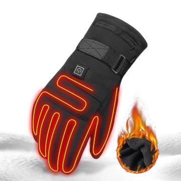 Heated Gloves Waterproof Motorcycle Heated Gloves Guantes Moto Touch Screen Battery Powered Racing Riding Heating Thermal Gloves