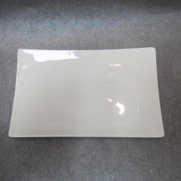 Square Plate Porcelain White