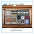 Jewelry tray for walk in closet
