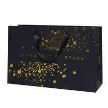 Luxury Shopping Bag With Gold Foil Stamp
