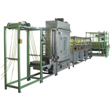 High speed continuous narrow fabric dyeing machine