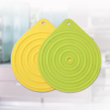 Yellow Round Shape Silicone Mat