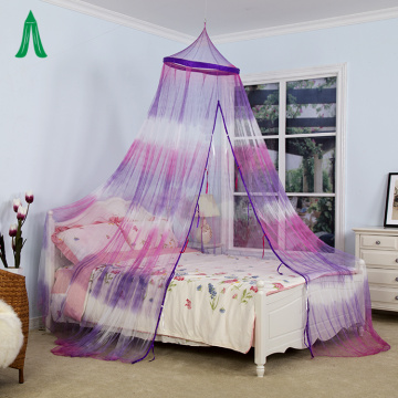 Mosquito Net Tie Dye Style Crown Bed Canopy