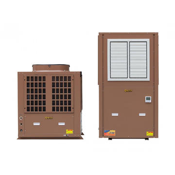Evaporative industrial cold water heat pump