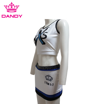 White sublimated cheer outfits
