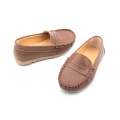 Wholesales Rubber Sole Leather Boat Shoes Kids