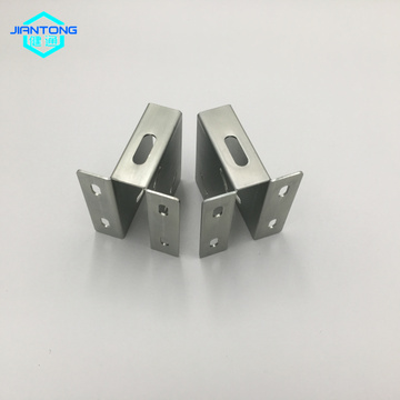 custom stamped metal bracket made of stainless steel