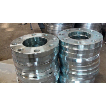 Flat face galvanized carbon steel flange