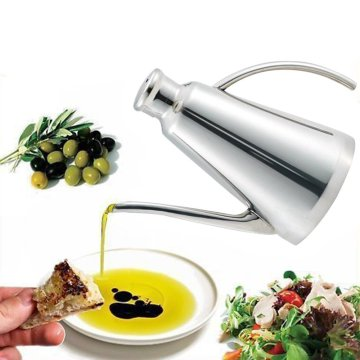 Realand Delux 900ML Stainless Steel Olive Oil Can Drizzler Pot Vinegar DispenserCruet Container Drip-Free Spout Housewarming