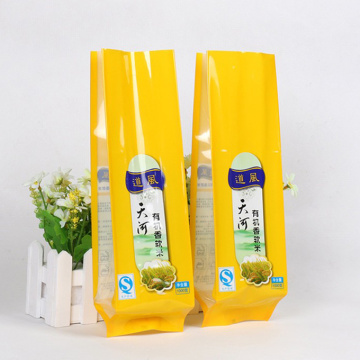 Quad Seal Bag Plastic packaging For Rice