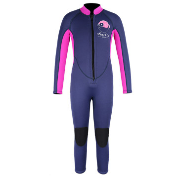 Seaskin 3mm Girls Colorful Front Zip Wetsuits