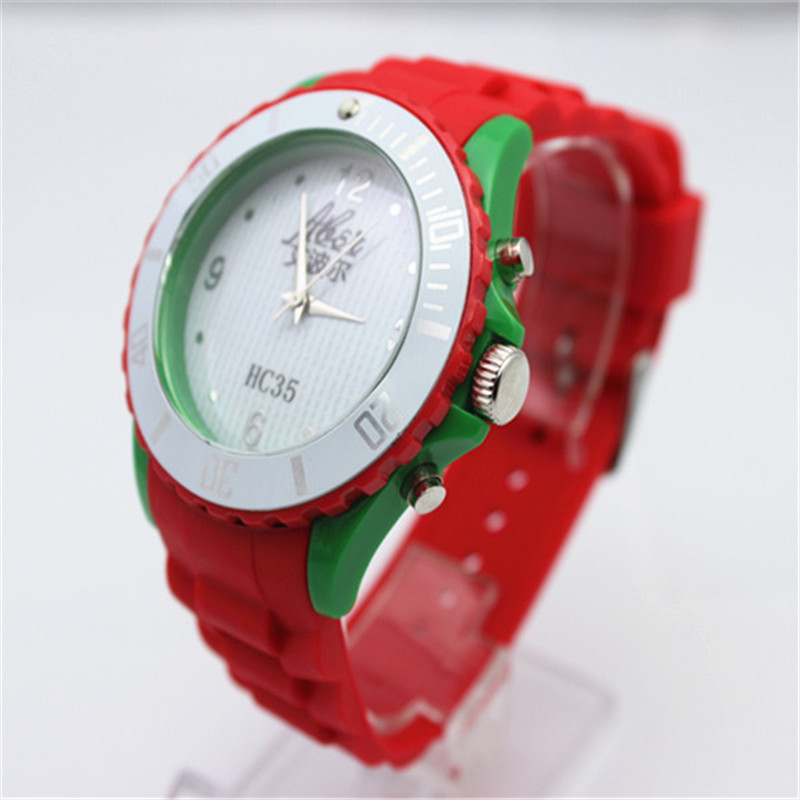 2017 Fashion silicone rubber watches men watch