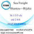 Shantou Port Sea Freight Shipping To Rijeka