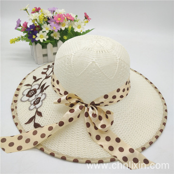 Summer outing cloth cap with large bowtie