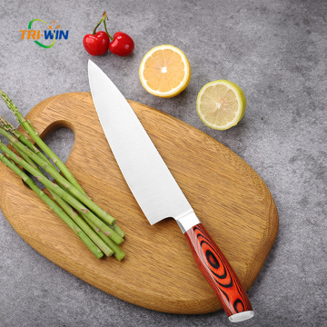 Kitchen Chef Knife with Pakka Wood Handle