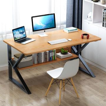 Laptop Desk with Shelves 39 Inch Corner Computer Desk Home Office Gaming Table Workstation Study Writing Desk with Bookshelf