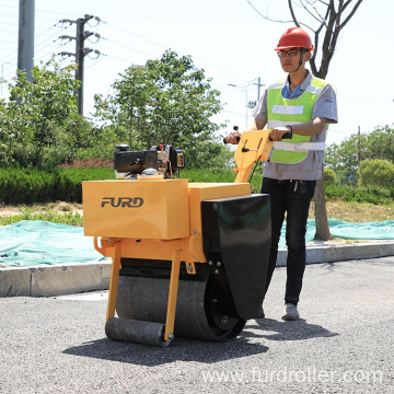 Mini Single Drum Hand Held Road Roller Compactor Price For Sale FYL-600C
