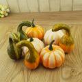 6PCS Artificial Pumpkin Props Bubble Pumpkin Toy For Halloween Thanksgiving Festival Party Decoration