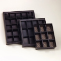 Leatherette Paper Chocolate Box with Compartments