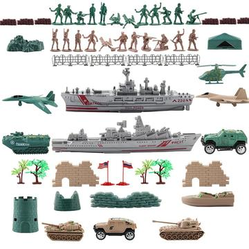 Army Mini Military Toy Set Weapons Battlefield Parent-child Toy Accessories Small Building Blocks Parts Bricks Kids Toy