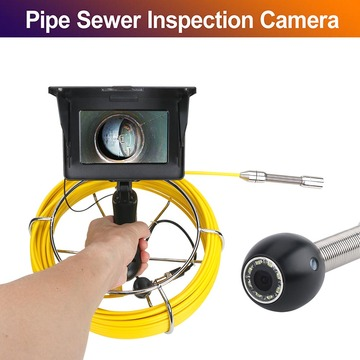 20M 5 inch 17mm Handheld Industrial Pipe Sewer Inspection Video Camera IP68 Waterproof Drain Pipe Sewer Inspection Camera System