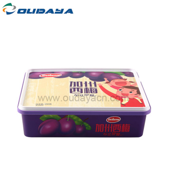 plastic box 2400ml rectangle container with lid