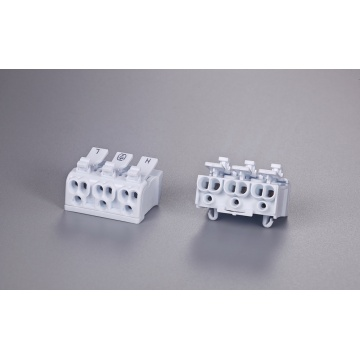 3 Poles Multipolar Wire Connector With Release Button