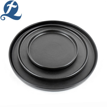 Matte Black Restaurant Plates Set