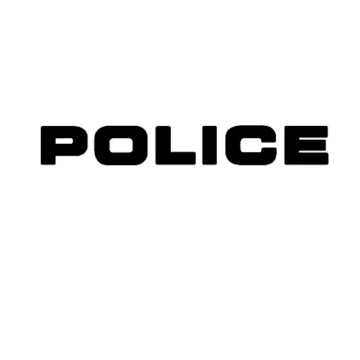 Advertising car vinyl police bumple sticker