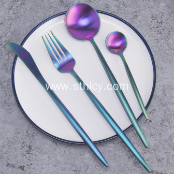 Rainbow PVD Coating Stainless Steel Flatware Set