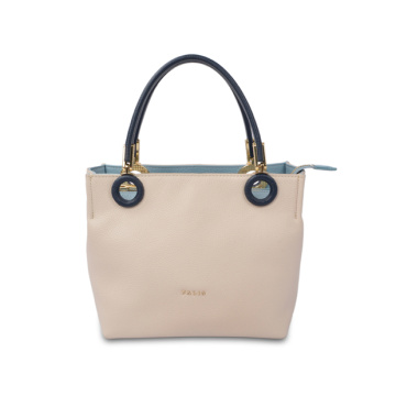 Medium Leather Tote with zipper Saffiano Leather Bag
