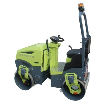 Ride on double steel wheel road roller 1200kg