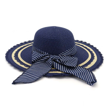 The circle lines summer beach straw hat