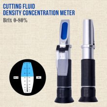 Portable 0-80% Refractometer Cutting Fluid Density Concentration Meter Emulsion Detector Quenching Liquid Density Meter