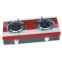 Butterfly Gas Stove 2 Burner Glass Top