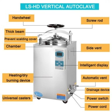 Rapid sterilization LCD display 100l steam sterilizer