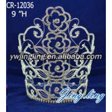 Rhinestones Crown Flowers Happy Birthday Tiara