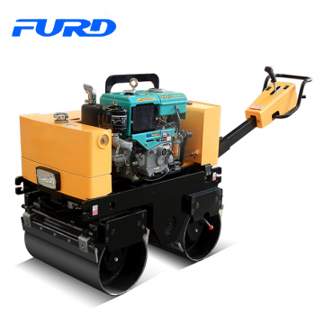 Factory Price Water Cooled Diesel Double Drum Hand Vibratory Roller (FYL-800CS)