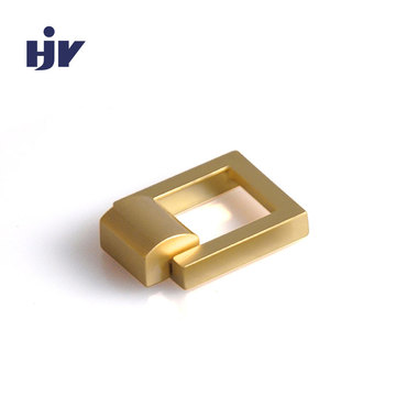 "1"" Square Drop Pull in Satin Brass"