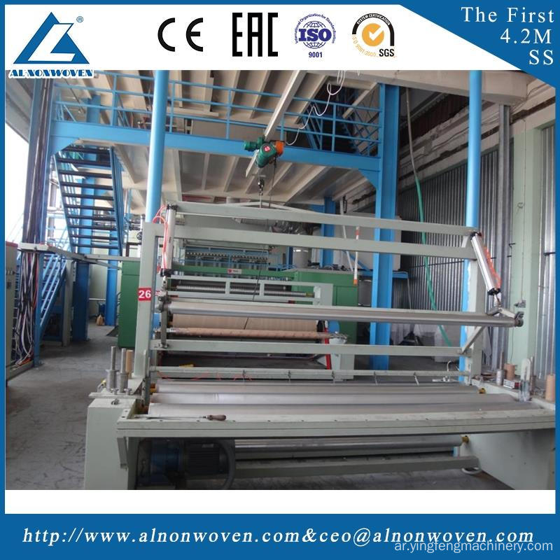 High efficiency AL-2400 S 2400mm non woven fabrics making machinery with low price