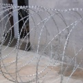 Hot-dipped steel blade barbed razor wire