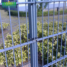 Stock double wire mesh panel fence