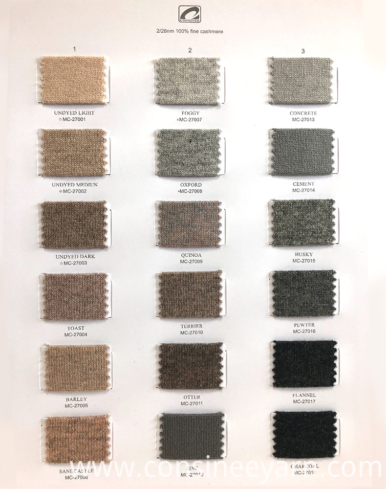 factory free sample cashmere yarn